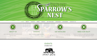 Sparrow's Nest Website by omj Creative